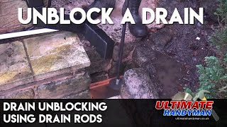 How to unblock a drain using drain rods