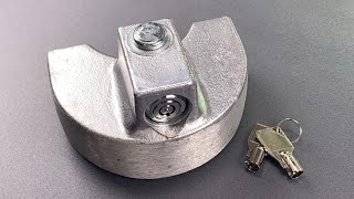 [934] Blaylock Trailer Coupler Lock Picked FAST! (Model TL-34)