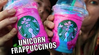 TRYING UNICORN FRAPPUCCINOS!