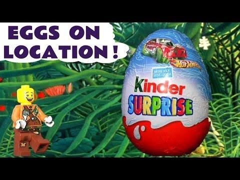 Kinder Surprise Eggs | Hot Wheels Disney Pixar Cars Star Wars Spongebob Planes All On Location
