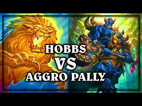 Hobbs VS Aggro Paladin  ~ Kobolds & Catacombs ~  Hearthstone heroes of warcraft