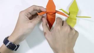 Hướng dẫn xếp con Hạc giấy
