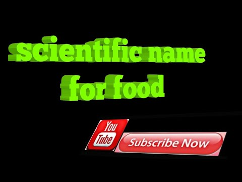 scientific name for food Study for food and other science knowledge