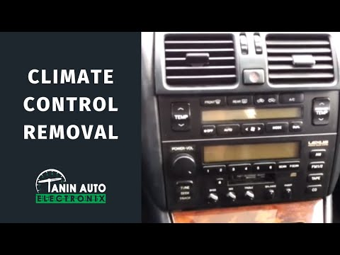 Ac Heater Control Panel Removal 1997 2000 Bmw 5 Series