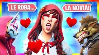 Se PELEAN por una *CHICA* (SU NOVIA)!! *TEMPORADA 7* PELICULA de FORTNITE de AMOR en Español -Remake