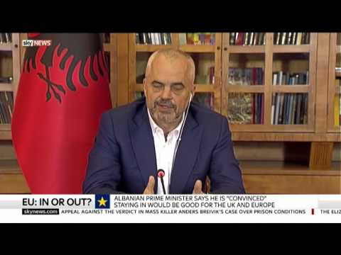 """Rama, për """"Sky News"""": Ne nuk duam konfederatë - Top Channel Albania - News - Lajme"""