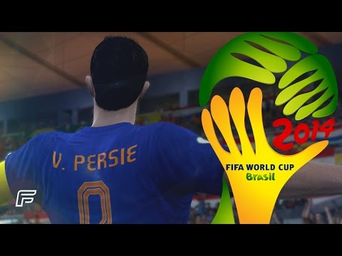 Robin Van Persie - All 4 Goals In 2014 World Cup: Brazil (FIFA Remake)