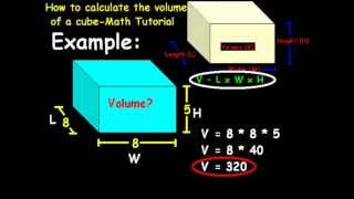 How to calculate the volume of a cube-Math Tutorial.