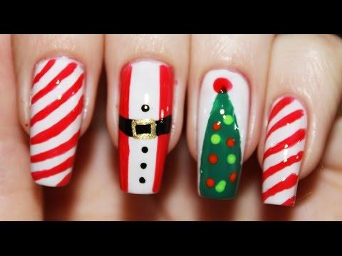 Маникюр для коротких ногтей на новый год 2016