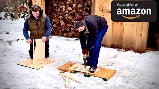 Husband & Wife Test a NEW way to Split Kindling If you Burn Firewood you have to see THIS