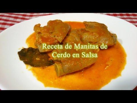 Receta de Manitas de Cerdo en salsa