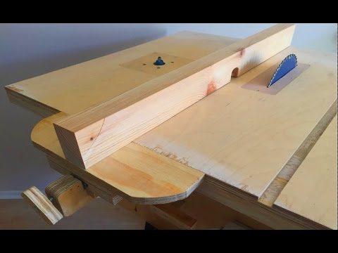 Making a Homemade Table Saw Fence & Router Table Fence -Tezgah Testere Paralellik Mesnedi