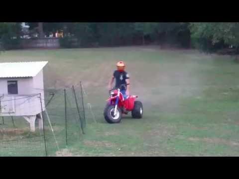 Honda 200x Atc Crash