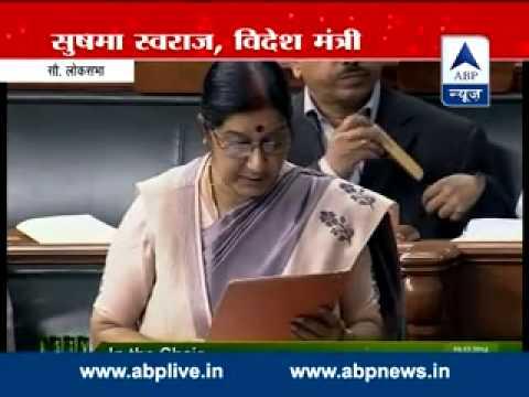 Bail to Lakhvi mockery of Pak pledge to combat terror: Sushma Swaraj