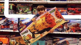 New Nerf Guns at Toys R Us Toy Store