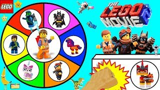 THE LEGO MOVIE 2 Spinning Wheel Game w/ SURPRISE TOYS + LEGO 2 MINIFIGURES