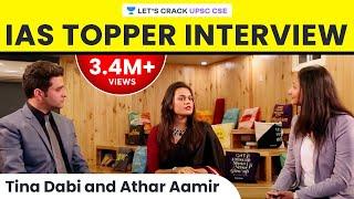 IAS Toppers' Interview - Tina Dabi & Athar Aamir: Life after cracking UPSC CSE/IAS exam