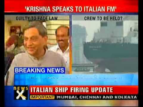 Crew will face probe for killing fishermen: Krishna to Italy FM-NewsX