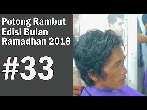 RAMBUT IKAL BERGELOMBANG cara potong nya BAGAIMANA ? ( step by step ) 2018