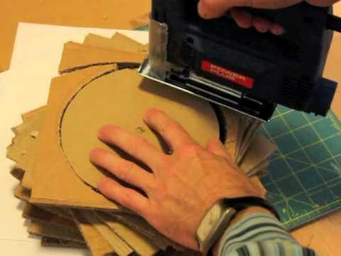 Corrugated Cardboard Lamp M4v Youtube