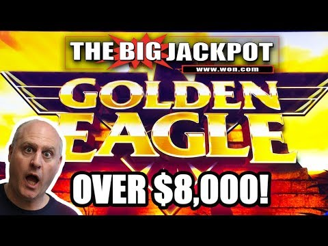 OVER $8,000 HUGE JACKPOT! Golden Eagle Pays out HUGE! The Big Jackpot | The Big Jackpot