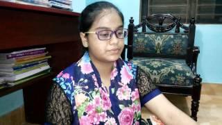 Anusha performed Tu Jaha Jaha Chalega Mera Chhaya