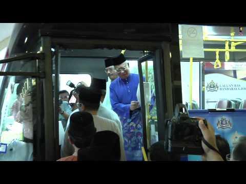 Najib Razak : Majlis Pelancaran Bas Perkhidmatan Percuma Johor Bahru, Johor