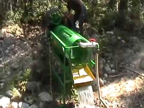 gold mining trommel machine | gold panning sluice box | gold claim songs