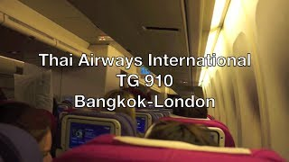 (HD) Thai Airways International Boeing 747-400 Flight Report: TG 910 Bangkok to London (Heathrow)