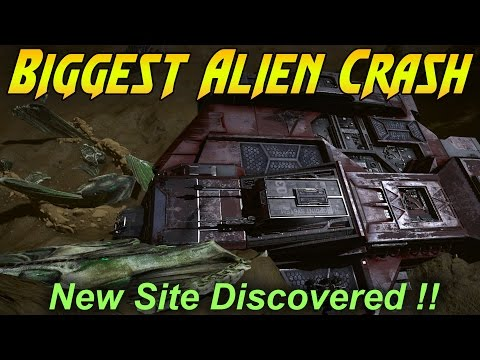 Elite Dangerous - Biggest Alien Crash Site Discovered!