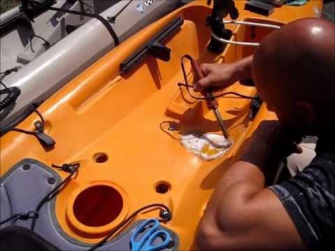 DIY POLYETHYLENE REPAIR TO  WILDERNESS SYSTEM TARPON 160i KAYAK  USING AN OLD RAIN X BOTTLE