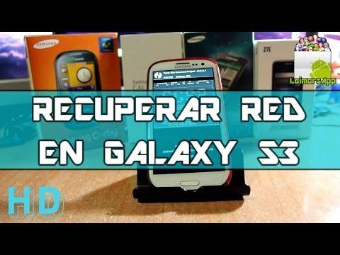 RECUPERAR RED MOVIL CON ARIZA EN SAMSUNG GALAXY S3 ANDROID