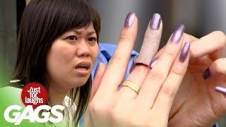 Funny Video – Human Finger In Sandwich PRANK!