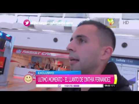 Cinthia Fernández despidió a Defederico a pura lágrima