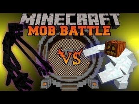 Minecraft Mob Battles - Mutant Enderman Vs Iron Golem