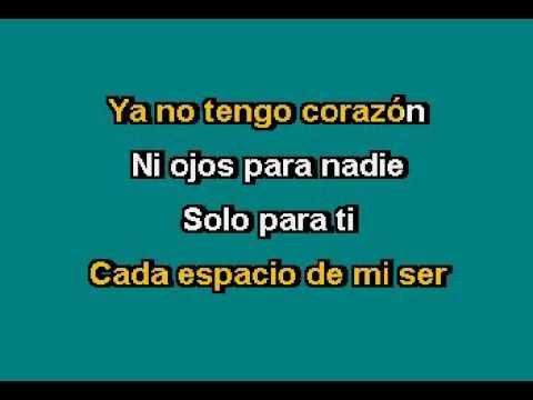 Camila   Solo para ti Karaoke