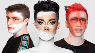 SIDEMEN TRY JAMES CHARLES MAKE UP TUTORIAL