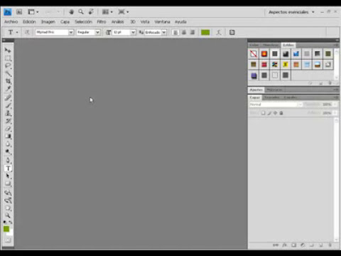 Tutorial de Photoshop - Introducción - Barra de herramientas