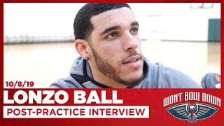 Lonzo Ball on Pelicans Playing Unselfishly | Pelicans Practice Interview
