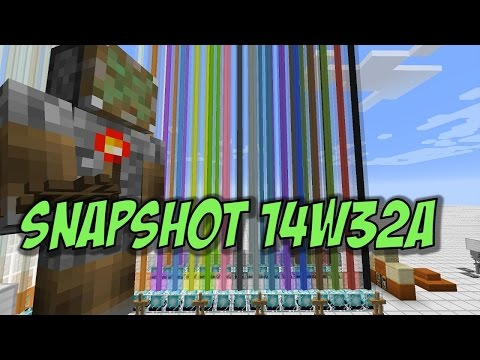 Minecraft 1.8: Snapshot 14w32a Rainbow Beacons Armor Stands Red Sandstone
