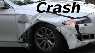 Autounfall / car crash - Mercedes vs BMW  (Sindelfingen)