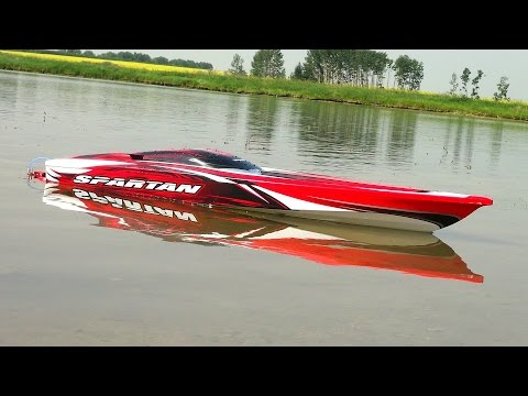 RC ADVENTURES - Traxxas Spartan - First Run. 4S Lipo - Radio Controlled Boat