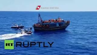 Mediterranean Sea: 223 refugees picked up off Sicilian coast