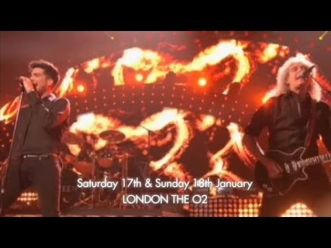 Queen + Adam Lambert - London O2 TV Advert
