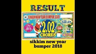 sikkim new year bumper 2018 result   01/01/2018 result sikkim new year bumper