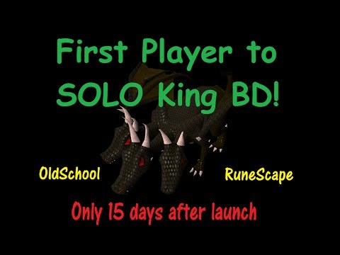 Old School RS - First Player to SOLO King Black Dragon (CB 53)