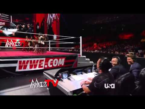 WWE Raw 07/22/13 Miz TV - Cast Of Total Divas [HD]