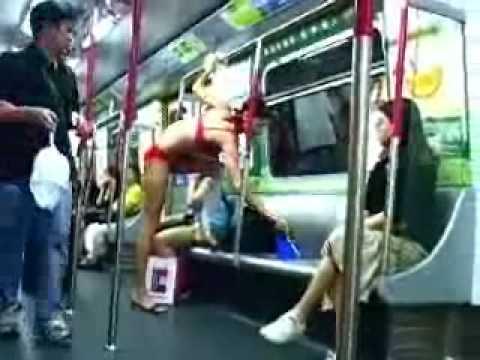 Naked on the MRT!