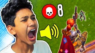 SCREAMING after every kill I get in Fortnite: Battle Royale