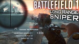 LONG RANGE SNIPER | BF1: Gewehr 98 Marksman Gameplay [60fps]